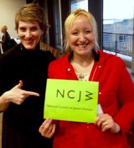 Rosalind Helfand with Kristen Strezo of NCJW Massachusetts