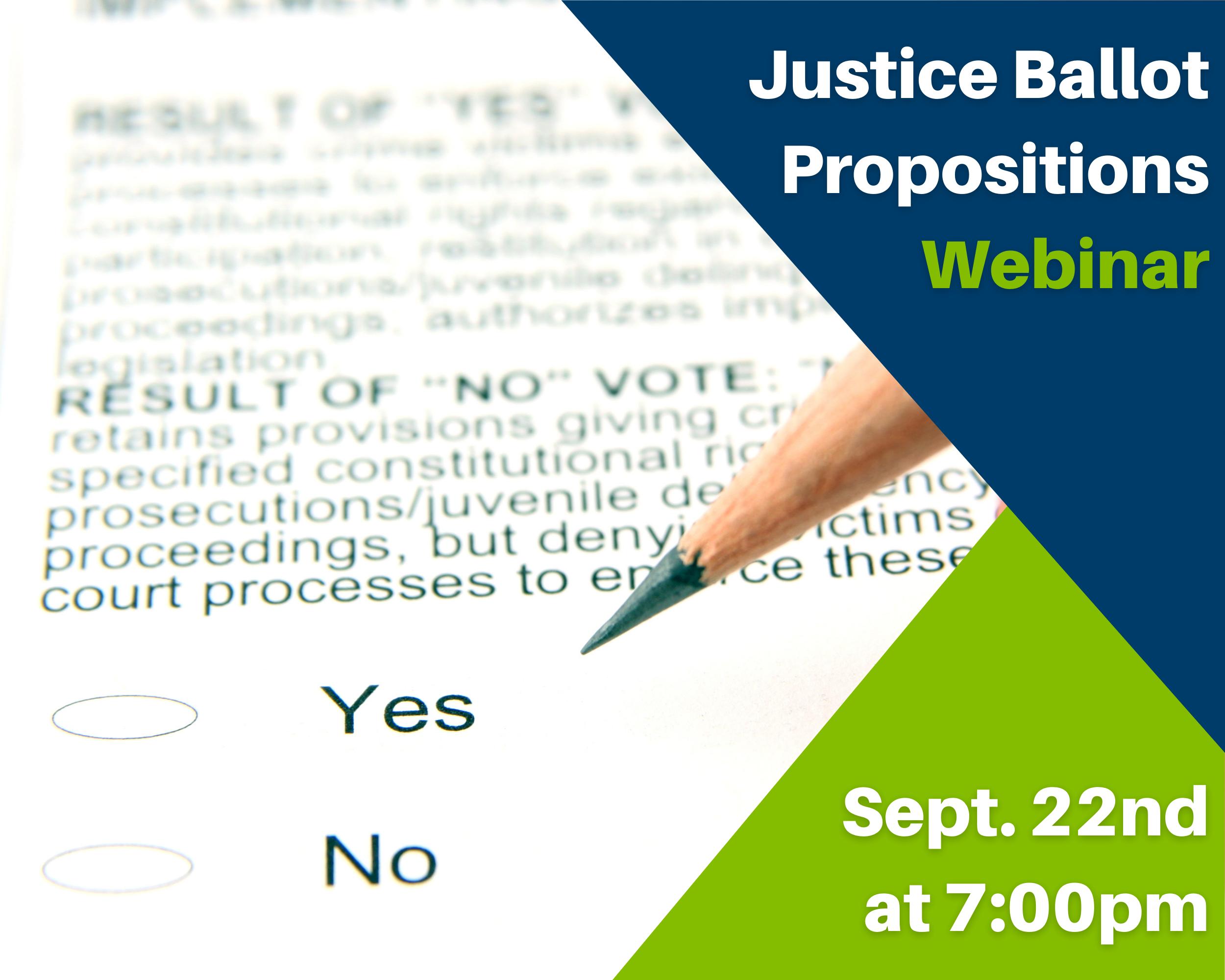 California Justice Ballot Propositions 2020 Webinar