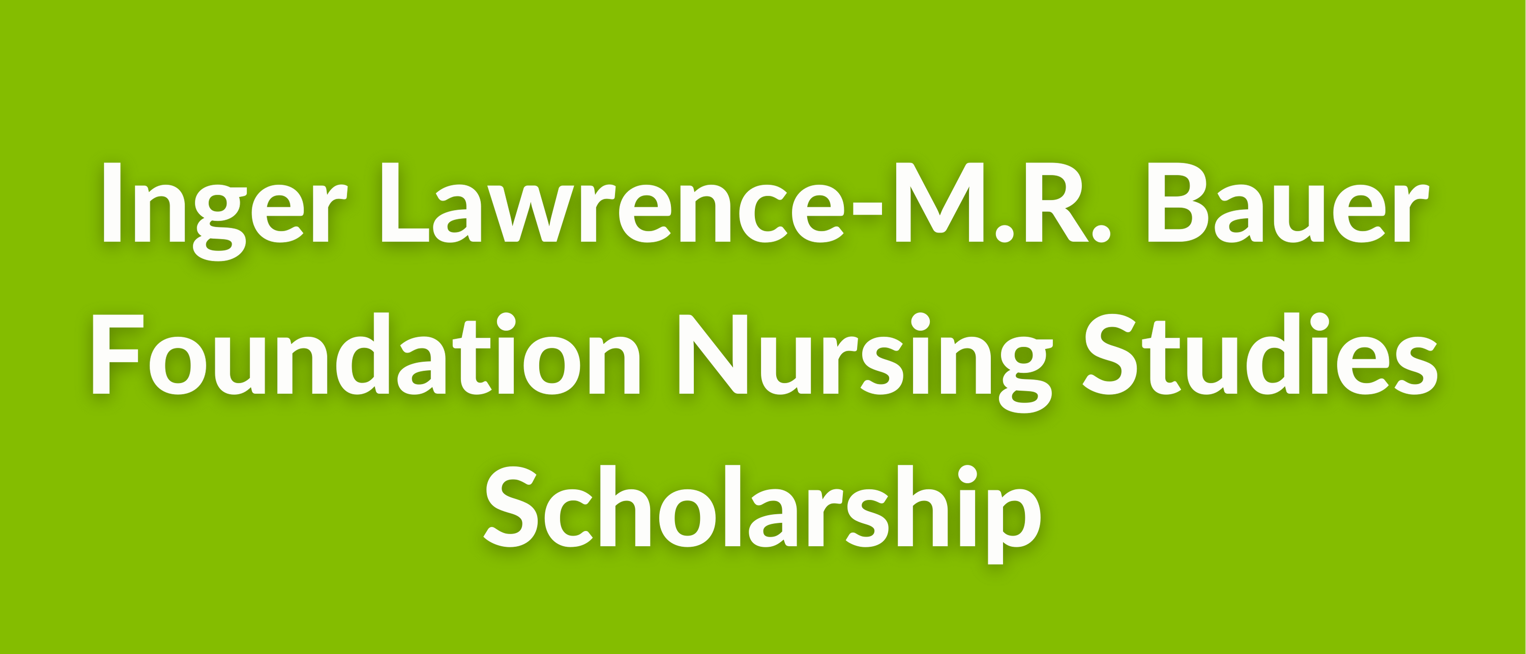 The Edith Lawrence and Frances Lawrence Teller Vocational Student Scholarship (3)