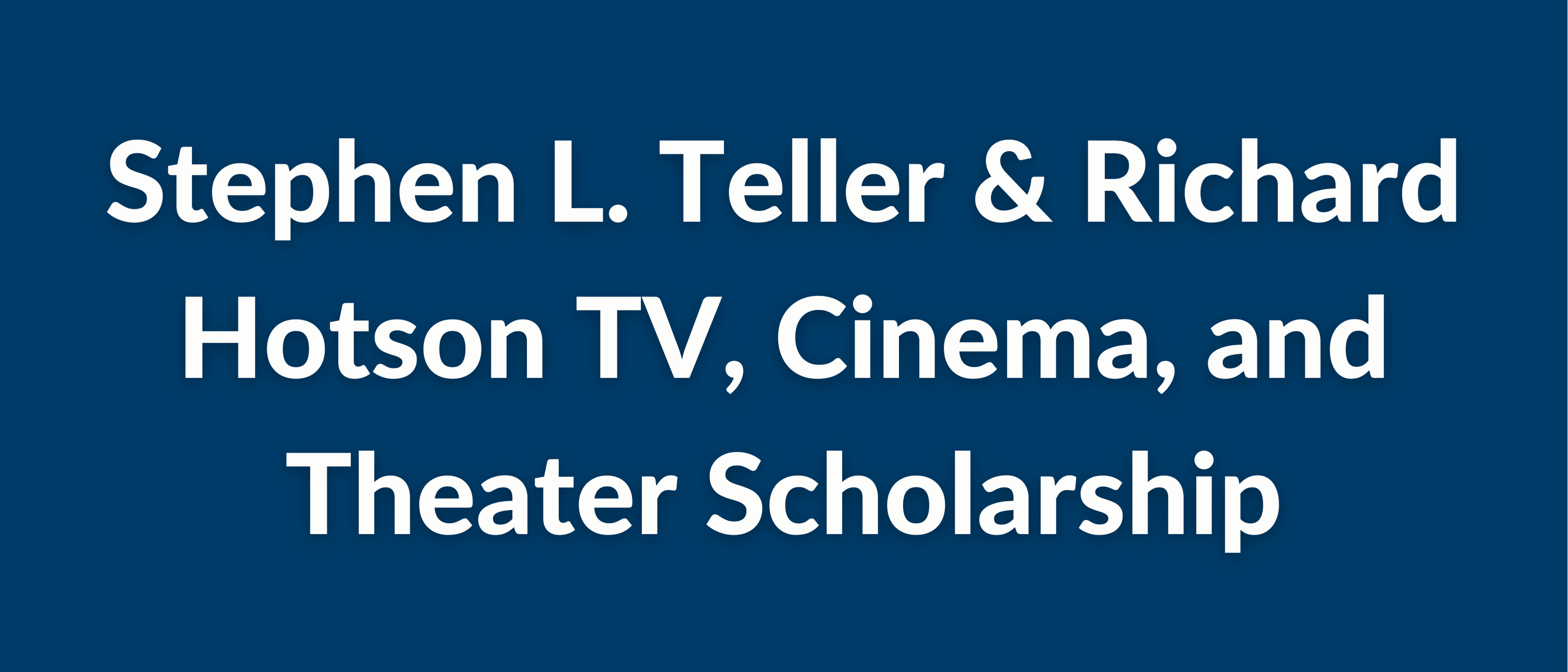 The Edith Lawrence and Frances Lawrence Teller Vocational Student Scholarship (9)
